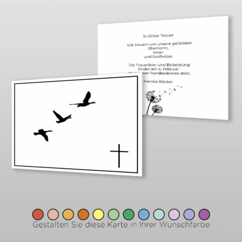 Trauerkarte Angel A6-2Sq