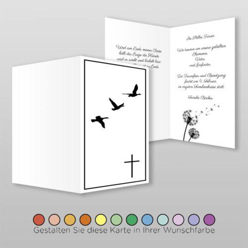 Trauerkarte Angel A6h-4Sh