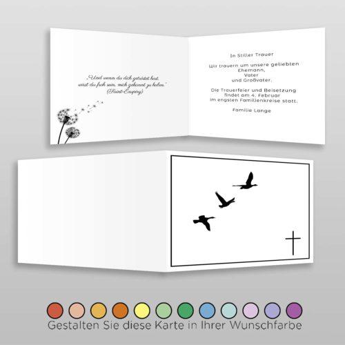 Trauerkarte Angel A6h-4Sq