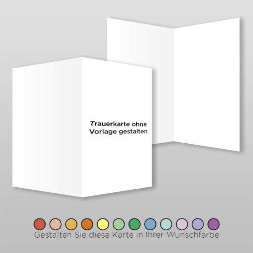 Trauerkarte Blanco A6-4Sh