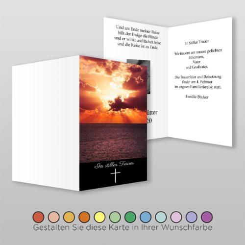 Trauerkarte Dawn A6h-4Sh