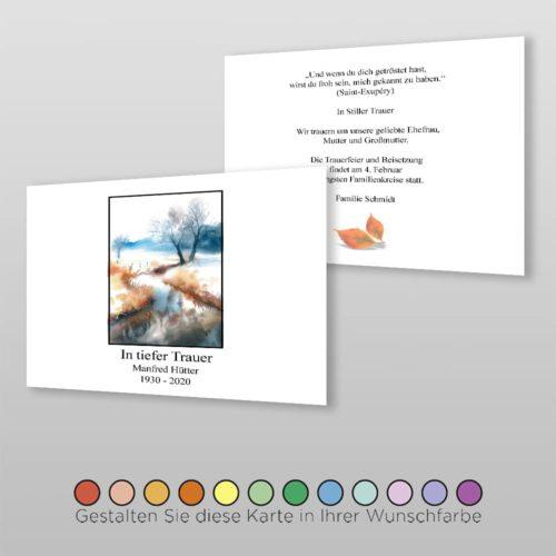 Trauerkarte Grief A6-2Sq