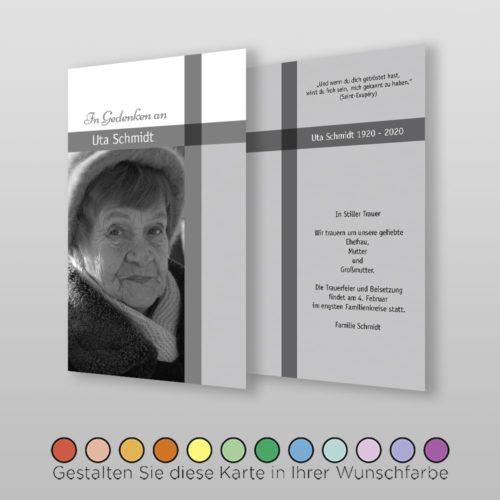 Trauerkarte Memory A6-2Sh