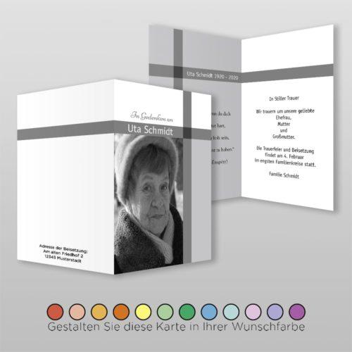 Trauerkarte Memory A6-4Sh