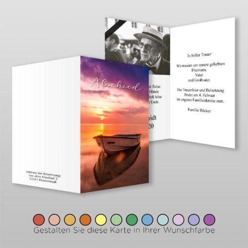 Trauerkarte Sail A6-4Sh