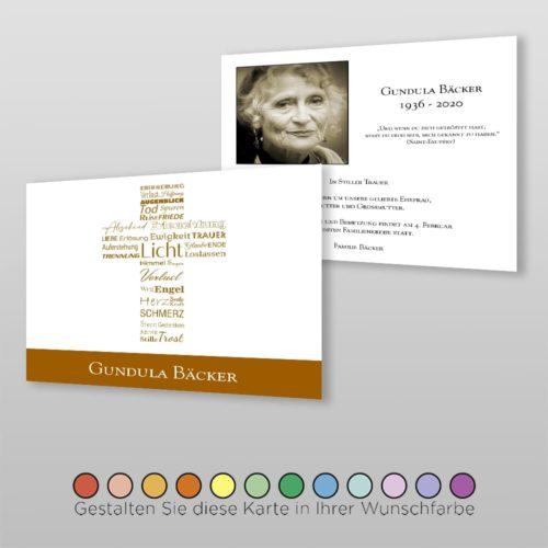 Trauerkarte Word A6-2Sq