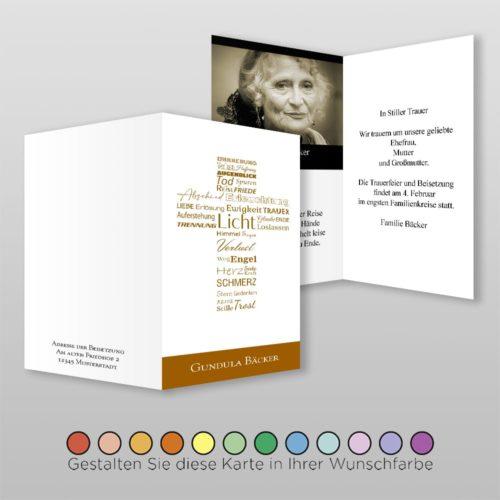 Trauerkarte Word A6-4Sh