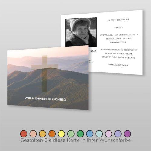 Trauerkarte Worldly A6-2Sq