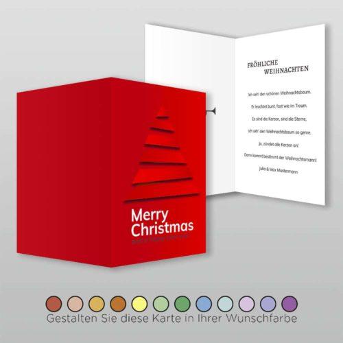 Weihnachtskarte A6h 4s Cassy