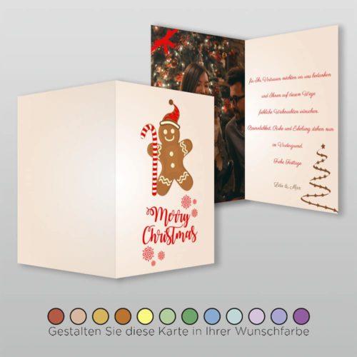 Weihnachtskarte A6h 4s Honna