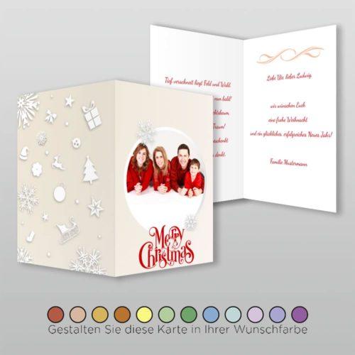 Weihnachtskarte A6h 4s Marybelle