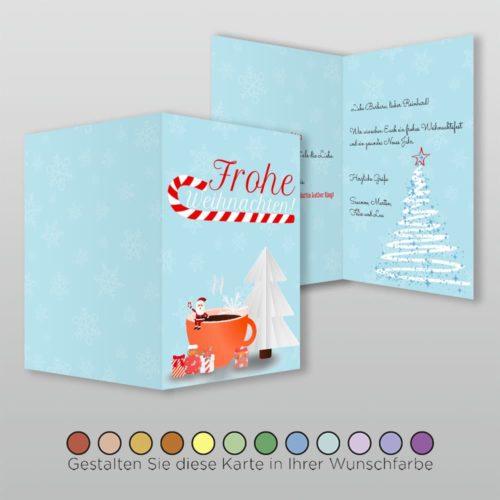 Weihnachtskarte A6h 4s Nova