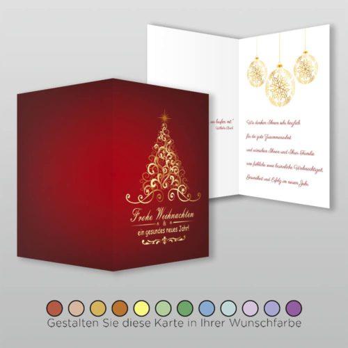 Weihnachtskarte A6h 4s Velia