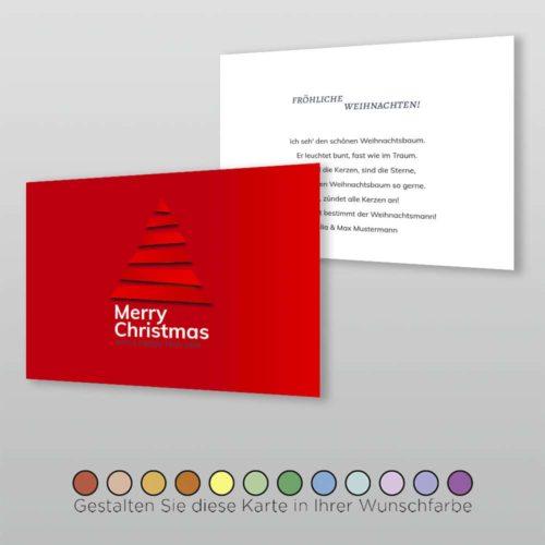 Weihnachtskarte A6q 2s Cassy