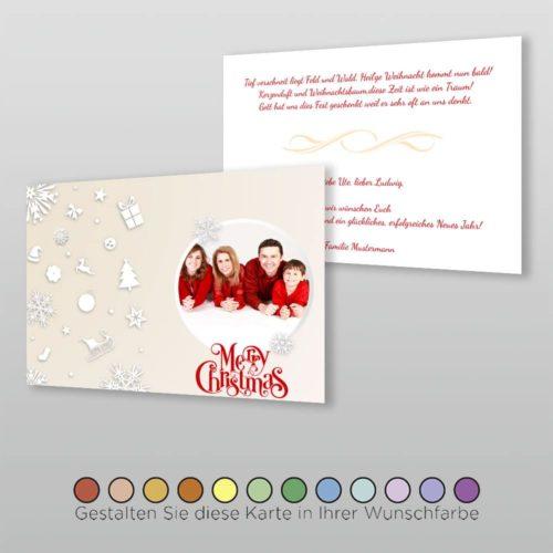 Weihnachtskarte A6q 2s Marybelle
