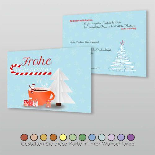 Weihnachtskarte A6q 2s Nova