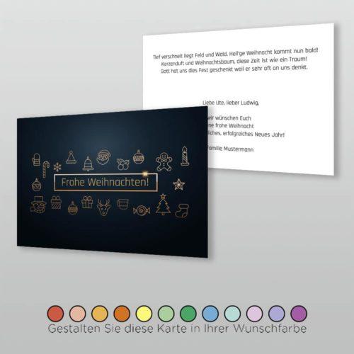 Weihnachtskarte A6q 2s Priscella
