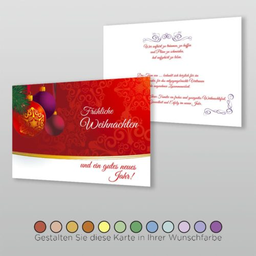 Weihnachtskarte A6q 2s Tala