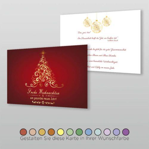 Weihnachtskarte A6q 2s Velia