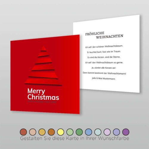 Weihnachtskarte Q 2s Cassy