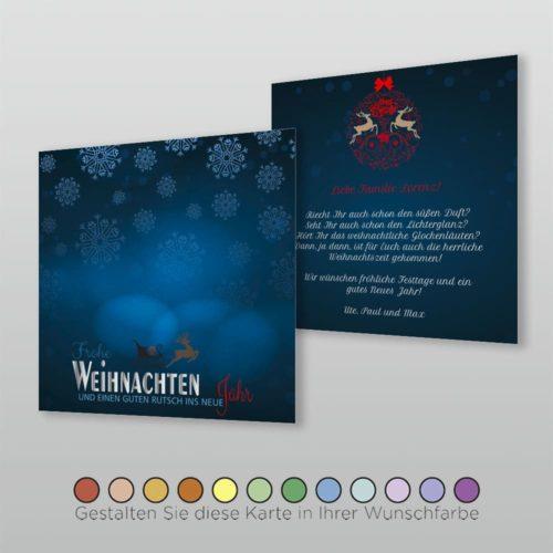 Weihnachtskarte Q 2s Francka