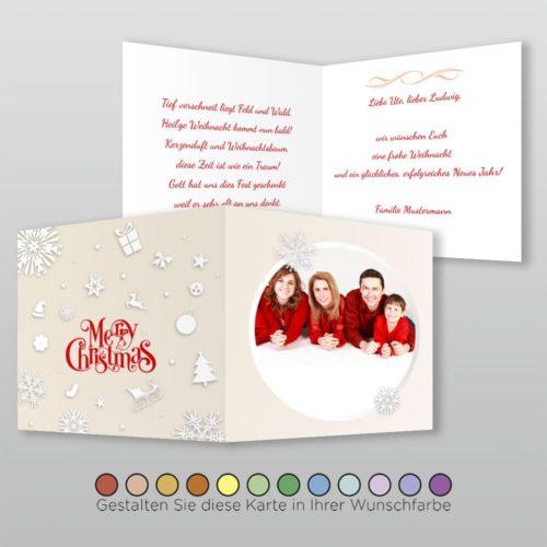 Weihnachtskarte Q 4s Marybelle