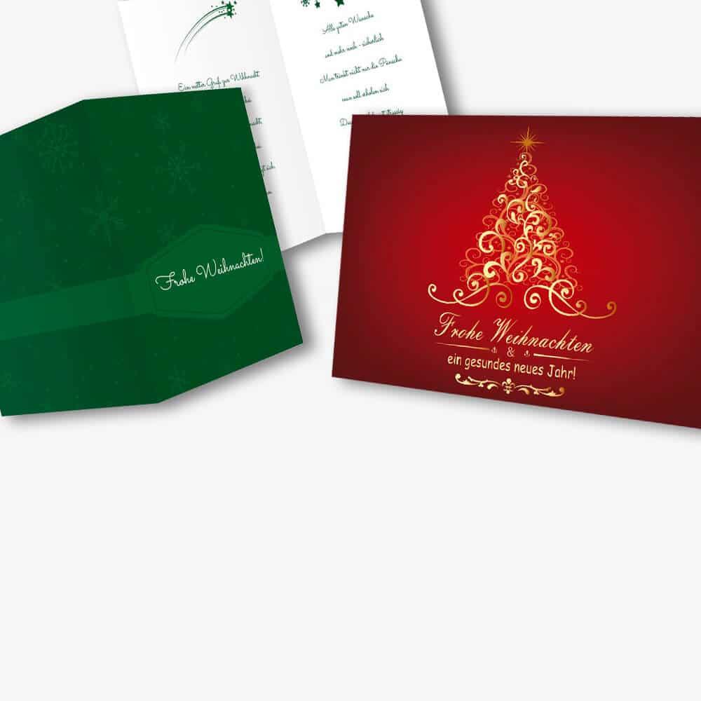 Weihnachtskarten Mockup