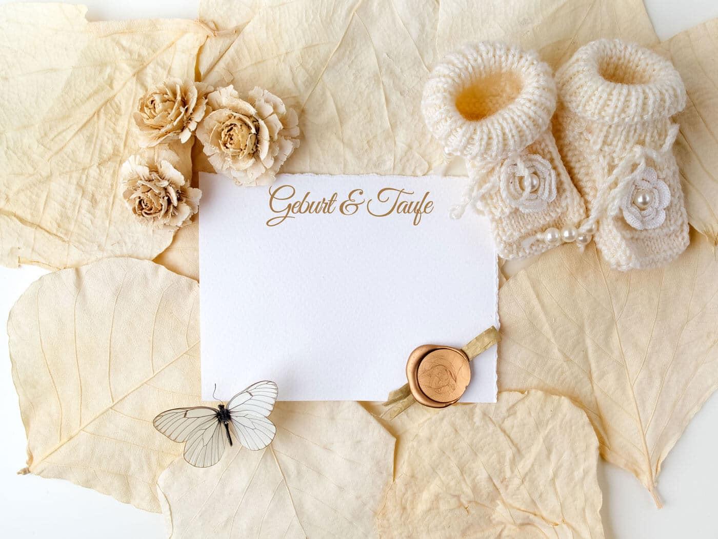 Einladungskarten & Dankeskarten für Geburt & Taufe