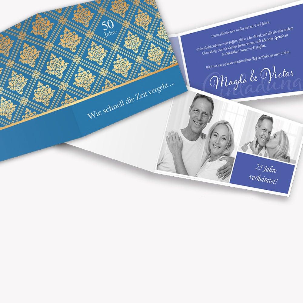 Einladungskarten Gold- Silberhochzeit