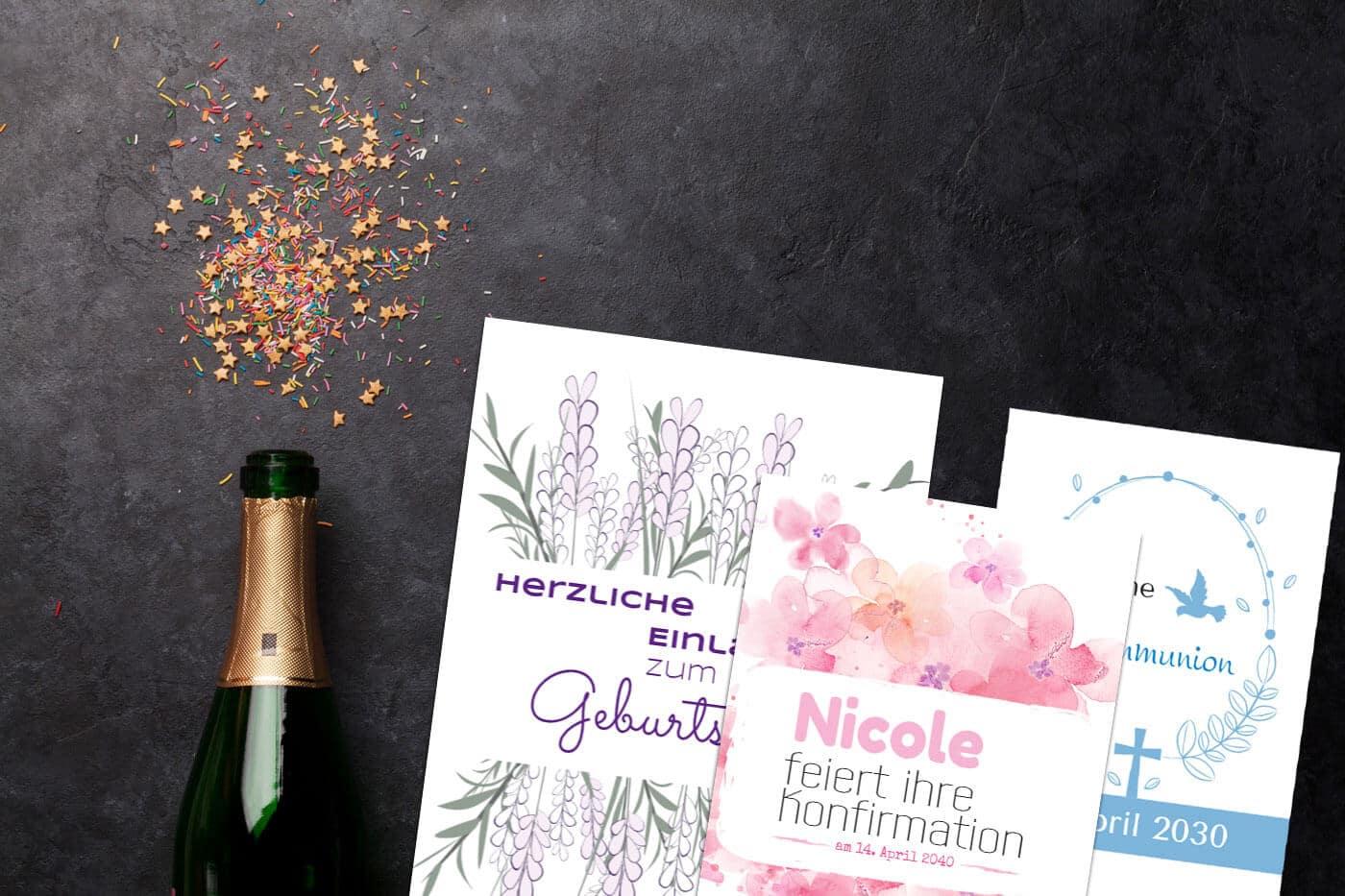 Einladungskarten & Dankeskarten für Dein Fest